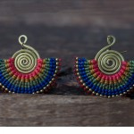 cotton-threaded-tribal-earrings-aretes-tribales-de-algodn-ensartado